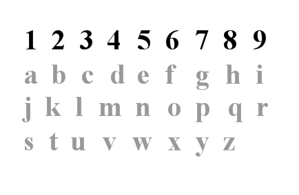 numbers-letters